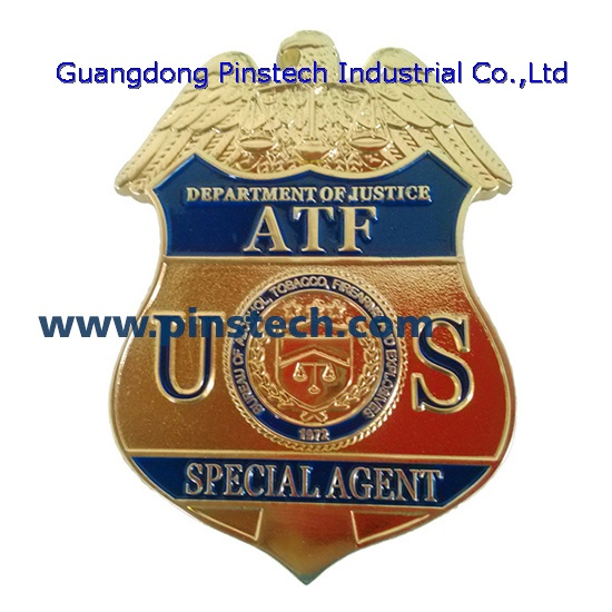 An Alcohol Tobacco And Firearms Agent Brought A Dog Into A: ATF Badge